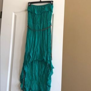 High Low Tube Top Dress with belt